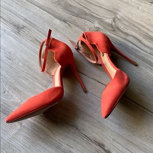SCHUTZ Shoes - Schutz Floralite Ankle Wrap Pump in Orange